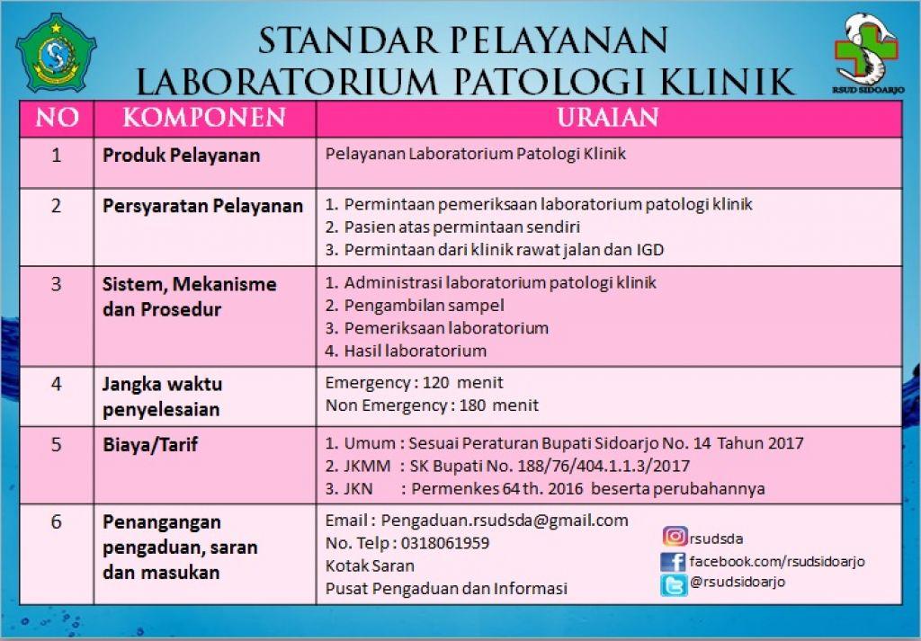standar lab PK